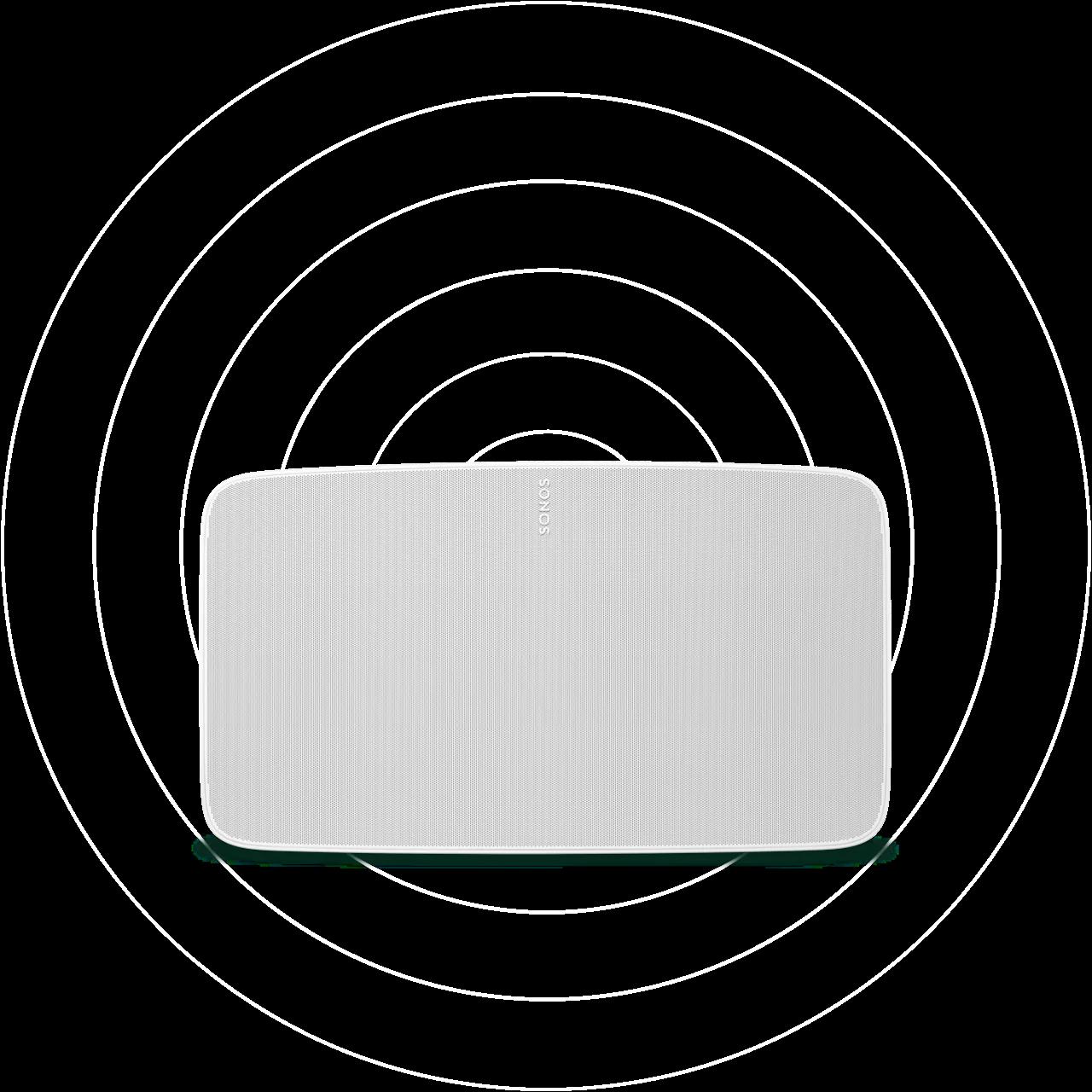 five-front-horizontal-white-soundwaves