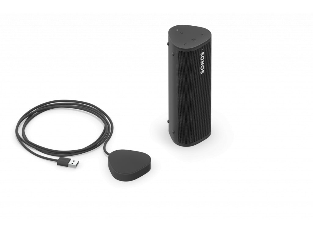 Roam Shadow Black Product Render 34 Side with Charging Base Q2FY21 MST MST fid136076 copy