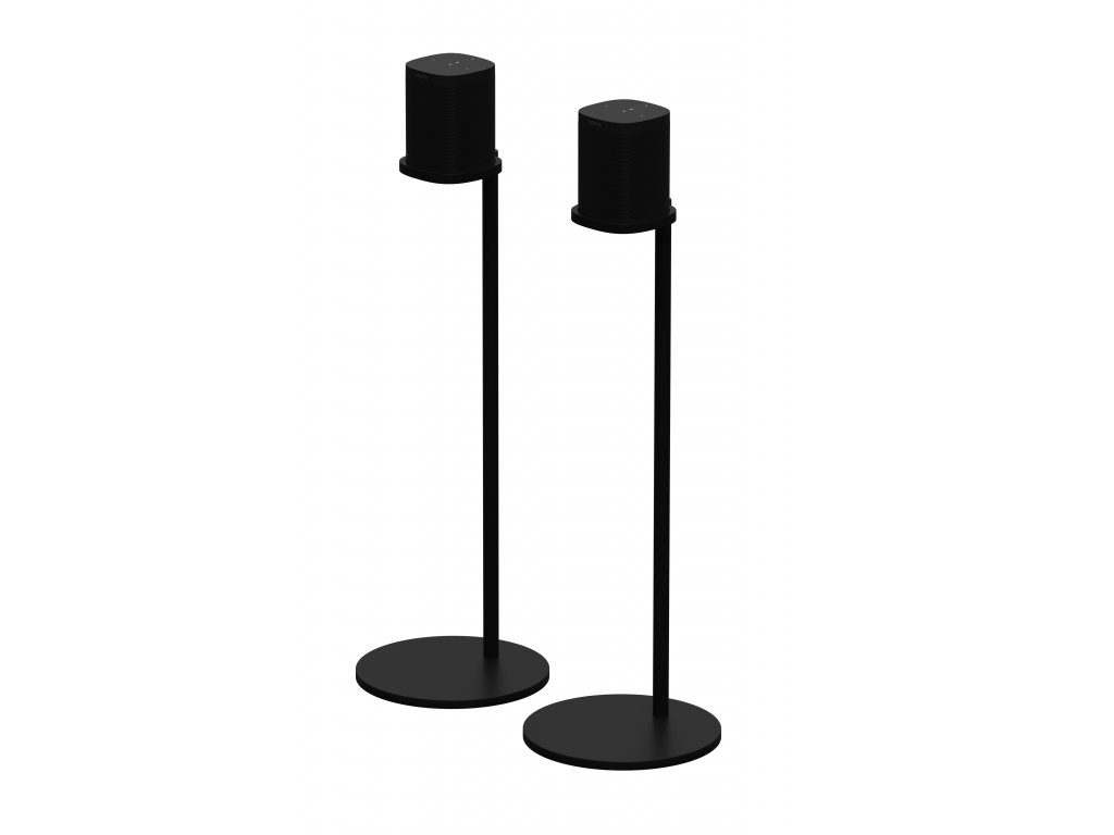 Sonos Accessories Stand Black Product Render Pair with Sonos One Q1FY19 GLOBALMIX GLOBAL JPEG fid30778