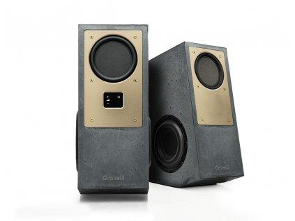 gravelli audio virtuoso brass anthracite v2
