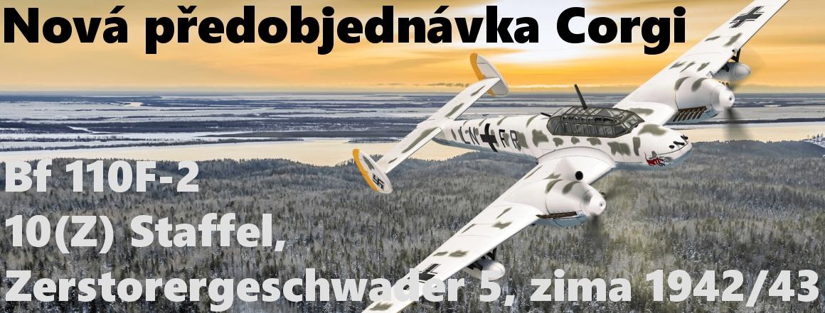 Corgi - Messerschmitt Bf 110F-2, Luftwaffe, 10(Z) Staffel, Zerstorergeschwader 5, východní fronta, zima 1942/43, 1/72