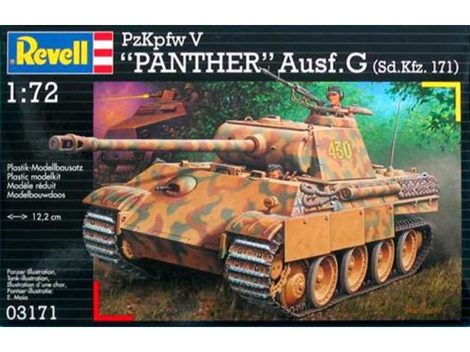Revell - Pz.Kpfw.V Ausf.G Panther, ModelKit 03171, 1/72