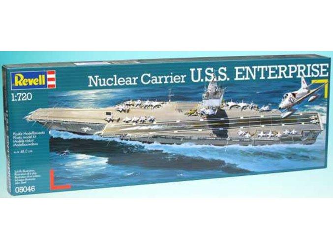 Revell - letadlová loď U.S.S. Enterprise (CVN-65), ModelKit 05046, 1/720