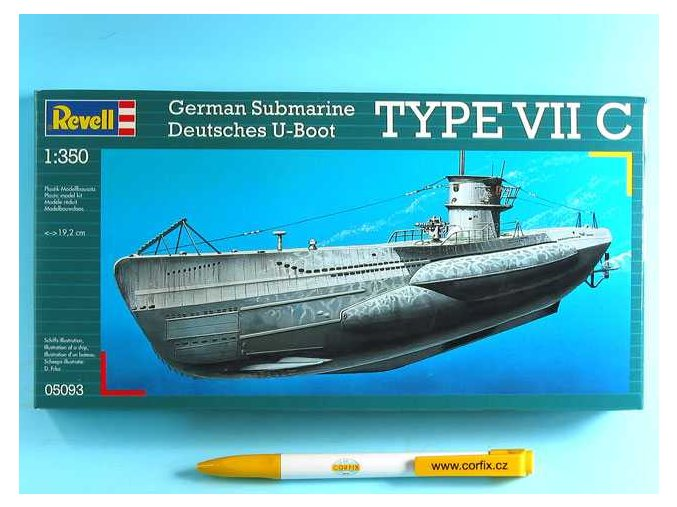 Revell - ponorka U-Boot Typ VIIC, ModelKit 05093, 1/350