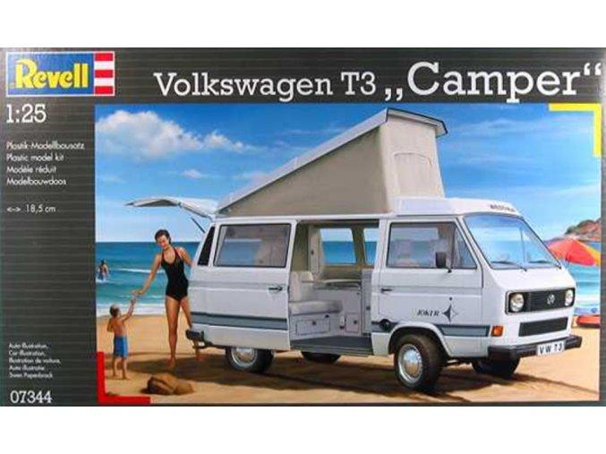 Revell - Volkswagen T3 ''Camper'', ModelKit 07344, 1/25