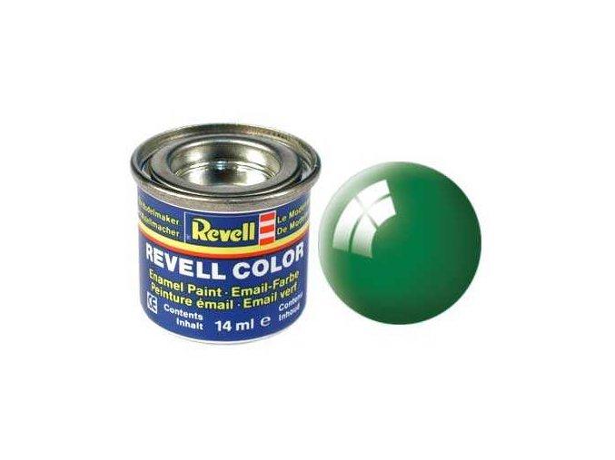 Revell - Barva emailová 14ml - 61 lesklá smaragdově zelená (emerald green gloss), 32161