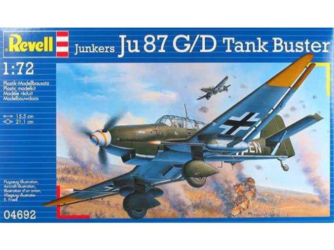 Revell - Junkers Ju-87 G/D Stuka, Tank Buster, ModelKit 04692, 1/72
