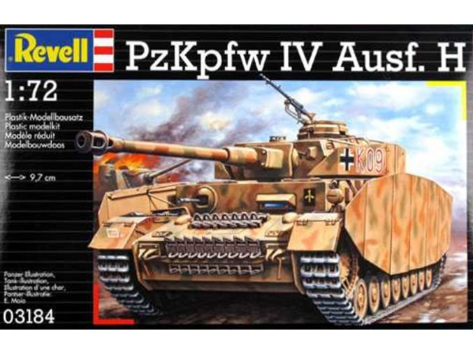 Revell - PzKpfw.IV Ausf.H, Wehrmacht, ModelKit 03184, 1/72