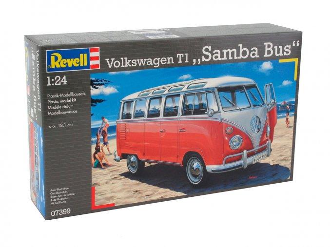 Revell - Volkswagen T1 SAMBA BUS, ModelKit 07399, 1/24