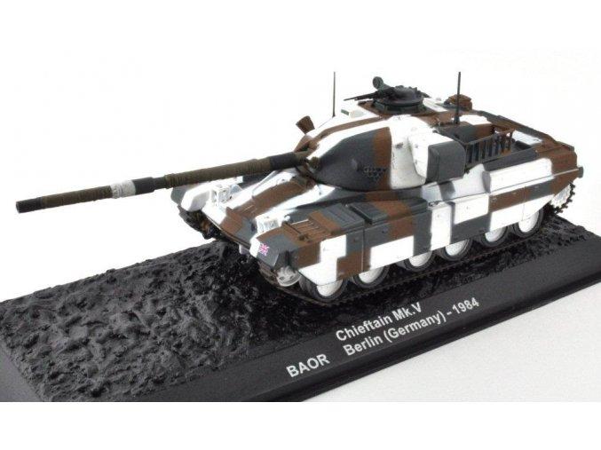 Altaya/IXO - Chieftain Mk.V, BAOR, Berlín, Německo, 1984, 1/72 - SLEVA 25%