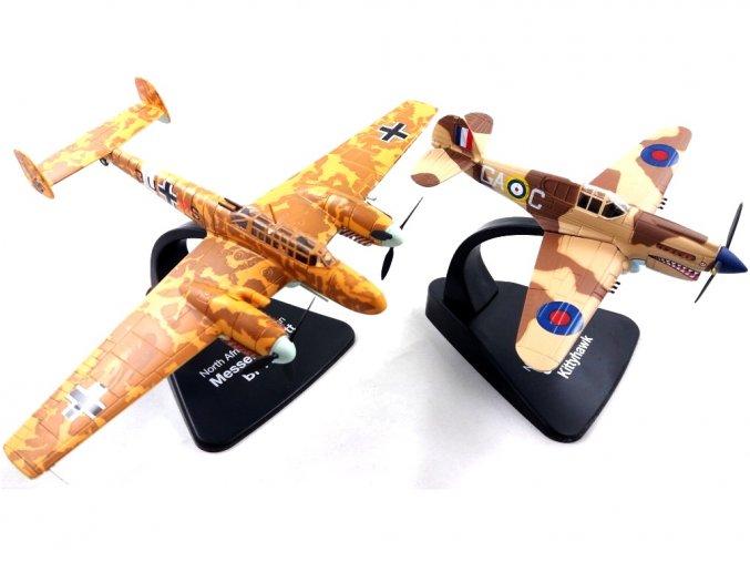 Atlas Models SET - Curtis P-40E Kittyhawk a Messerschmitt Bf 110G, RAF / Luftwaffe, severní Afrika, 1/72