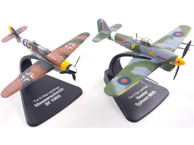 Atlas Models SET - Hawker Typhoon Mk.Ib a Messerschmitt Bf 109G, RAF / Luftwaffe, Den D, 6. červen 1944, 1/72