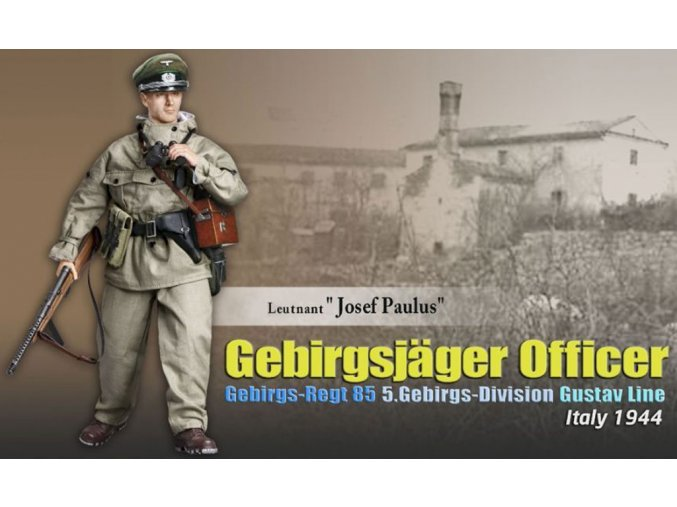 Dragon - horský myslivec ''Leutnant Josef Paulus'', 5.Gebirgs-Division, 1944, 1/6