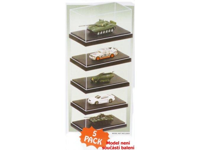Trumpeter - průhledné krabičky na model s podstavcem, 9 x 5,1 x 3,8 cm, balení 5 kusů