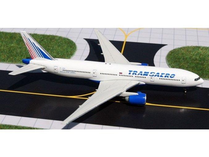 Gemini - Boeing B777-222, dopravce Transaero Airlines, Rusko, 1/400