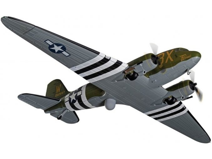 """Corgi - Douglas C-47A Skytrain, USAAF, 5./6. června 1944 - Den D, """"That's All Brother"""", 1/72"""