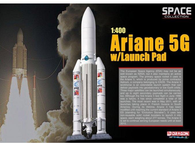 Dragon - raketa Ariane 5G ve startovní poloze, 1/400