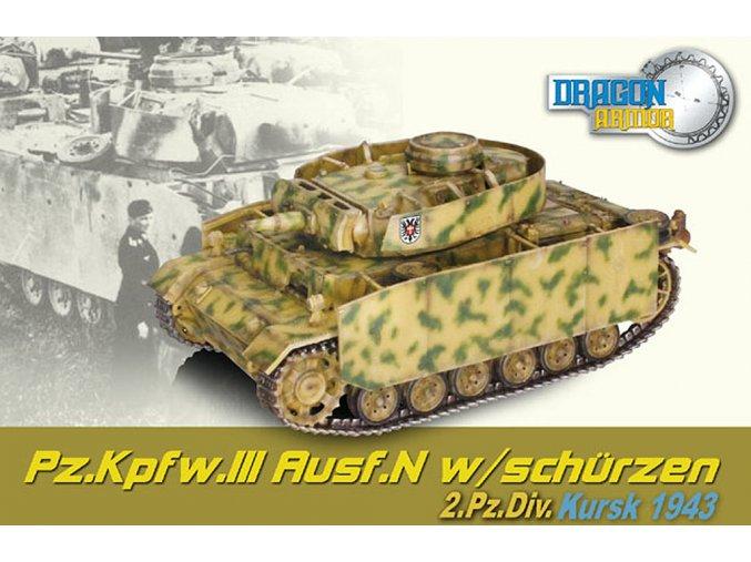 Dragon - Panzer III., Ausf.N, 2.Pz. divize, Kursk, 1943, 1/72