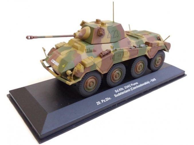 Eaglemoss - Sd.Kfz. 234/2 Puma, 20.panzer divize, Sudety, Československo, 1945, 1/43, SLEVA 42%