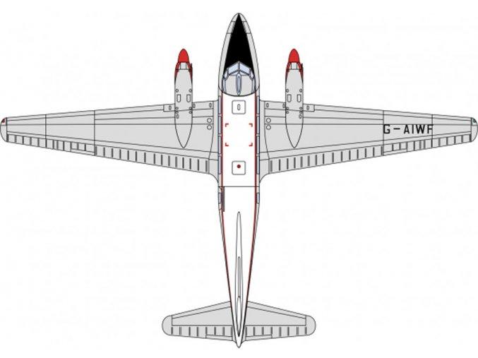 Oxford - de Havilland DH.104, Dan Air, 1/72