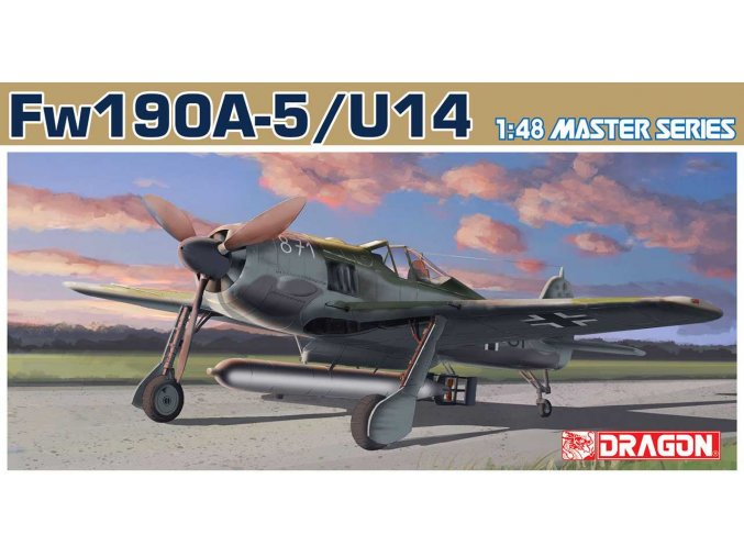 Dragon - Focke Wulf Fw-190 A-5/U-14, Model Kit letadlo 5569, 1/48, SLEVA 20%