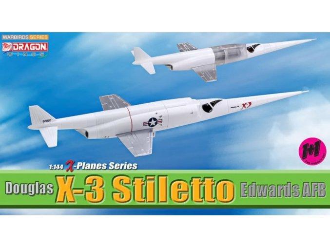 Dragon - Douglas X-3 Stiletto, Edwards AFB, set 2 modelů, 1/144, SLEVA 38%