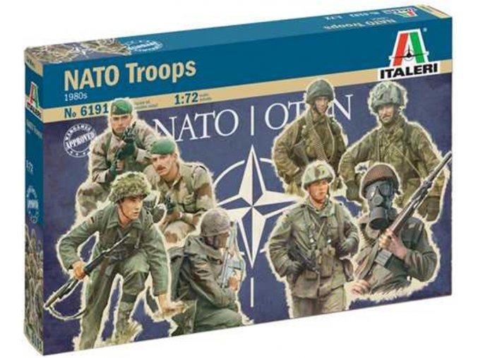 Italeri - figurky vojáci NATO, 1980s, Model Kit 6191, 1/72