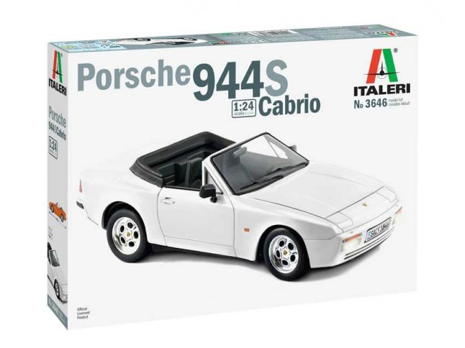 Italeri - Porsche 944 S Cabrio, Model Kit 3646, 1/24