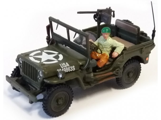 Cararama - Jeep Willys, US Army, 1/43