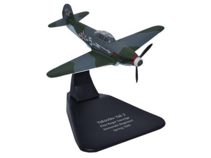 Oxford - Yakovlev Yak-3, sovětské letectvo, francouzský regiment Normandie, 1/72