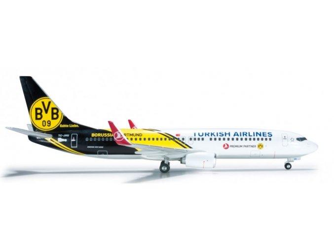 Herpa - Boeing B737-8F2, dopravce Turkish Airlines, Turecko, 1/200