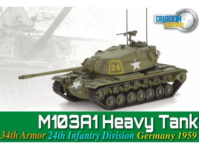 Dragon - M103A1, US Army, 24.obrněná divize, Německo, 1959, 1/72