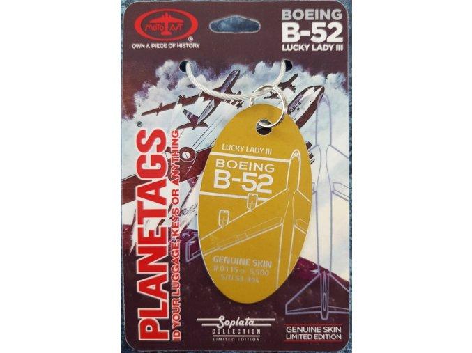 PlaneTags - přívěsek ze skutečného letadla Boeing B-52, Lucky Lady III, registrace #53-394