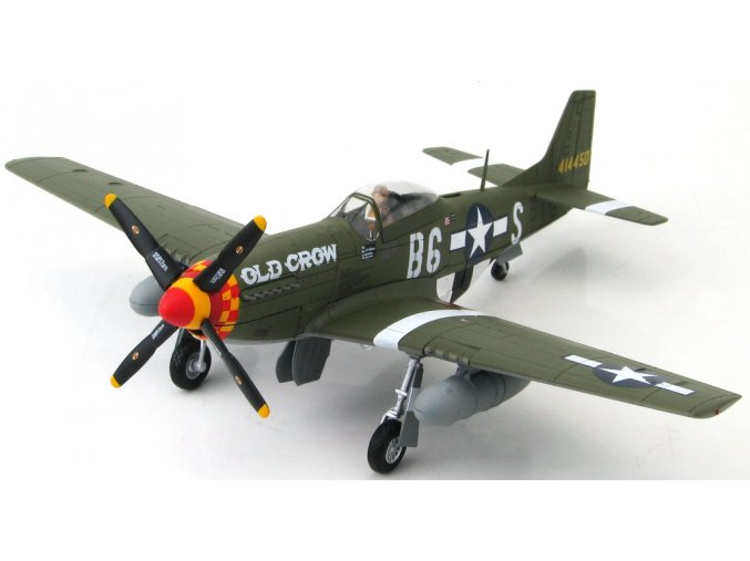 HobbyMaster - North American P-51D Mustang, USAAF, 363rd FS, Capt. C. E. Bud Anderson, ''Old Crow'', 1944, Signovaná edice, 1/48