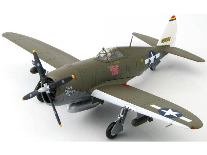 "HobbyMaster - Republic P-47D Razorback, USAAF, 348th FG., Col. Neel Kearby, ""Fiery Ginger IV"", Nová Guinea, 1944, 1/48"