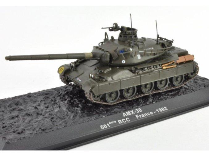 Altaya - AMX-30, 501eme RCC, Francie, 1982, 1/72 - SLEVA 25%