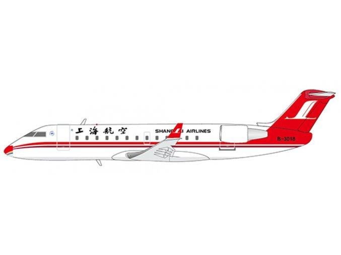 "JC Wings - Canadair CRJ200ER, dopravce Shanghai Airlines ""Special Nose"" B-3018, Šangaj, 1/400"