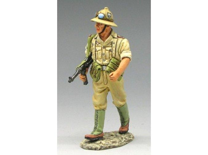 King & Country - Unteroffizier s MP40, pochod, Deutsches Afrika Korps, 1/30