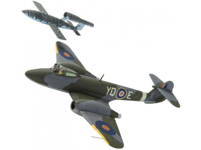 Corgi - Gloster Meteor F1 + letounová střela Fieseler Fi-103, 616. squadrona, T.D. 'Dixie' Dean, 4. srpna 1944, 1/72