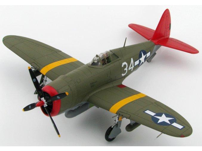 HobbyMaster - Republic P-47D Razorbac, USAAF, 332nd FG, 100th FS Tuskegee Airmen, 1/48