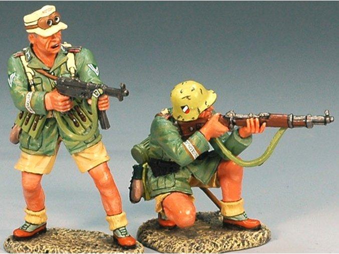 King & Country - útočná skupina, set 2 vojáci, Deutsches Afrika Korps, 1/30
