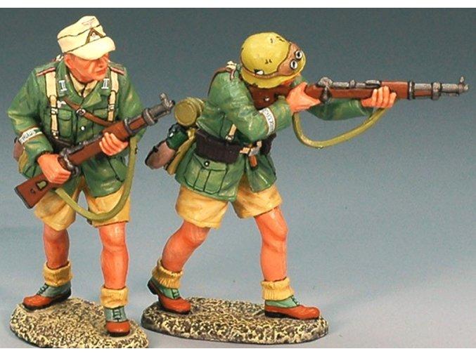 King & Country - vojáci s puškami, set 2 vojáci, Deutsches Afrika Korps, 1/30