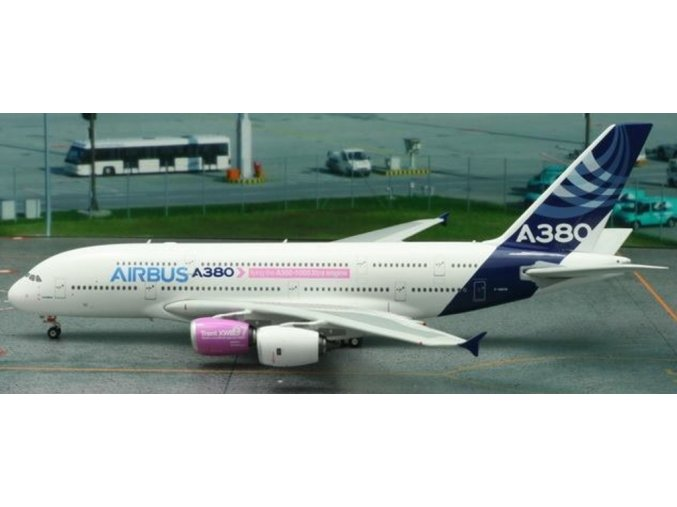 """Phoenix - Airbus A380-841, společnost Airbus Industries, """"2006s - House"""" Colors, """"Flying the A350-1000 Xtra engine"""", 1/400"""