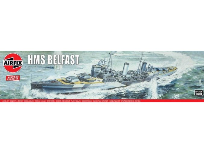 Airfix - HMS Belfast, Classic Kit VINTAGE A04212V, 1/600