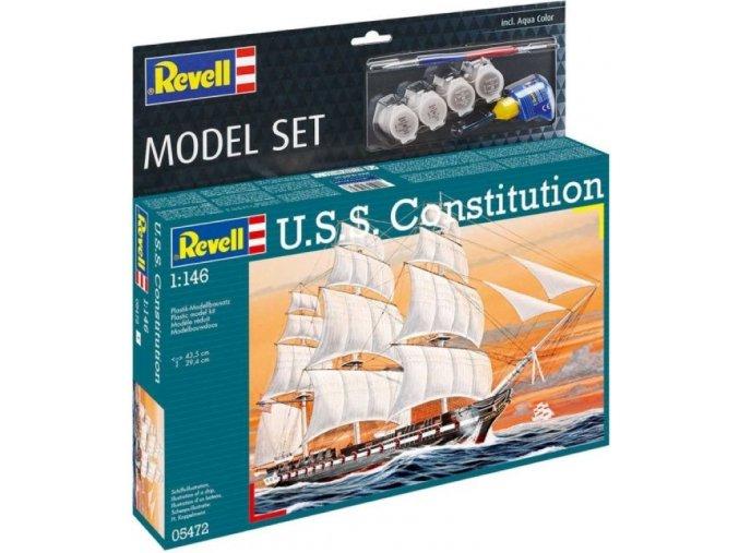 Revell - USS Constitution, ModelSet 65472, 1/146