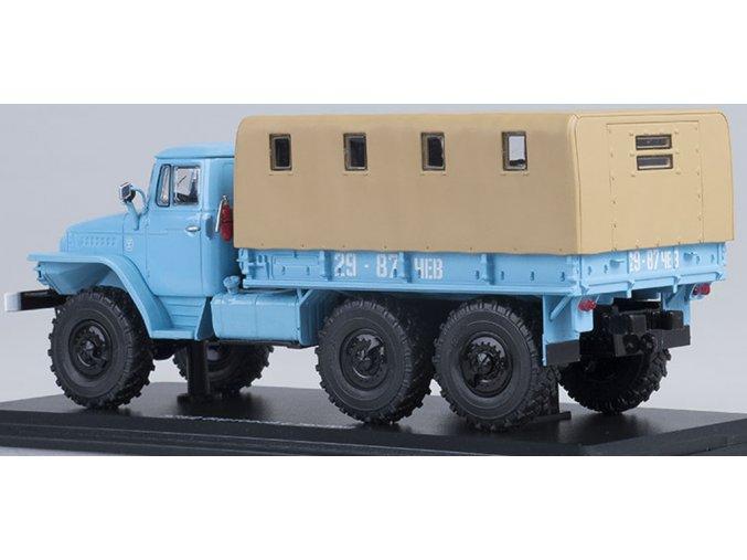 Start Scale Models - URAL-375D, valník s plachtou (modrá), 1/43