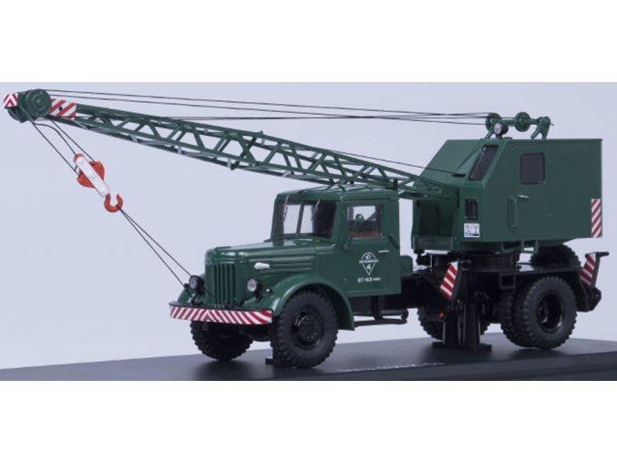 Start Scale Models - Multifunkční nákladní autojeřáb K-51, MAZ-200, (khaki), 1/43