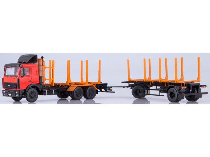 Start Scale Models - KAMAZ-6303 těžařský vůz s lesním návěsem MAZ-83781, 1/43