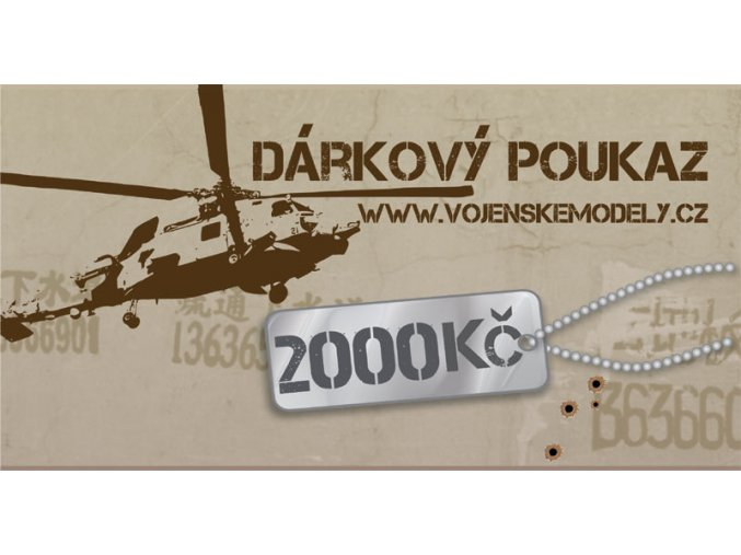 Dárková poukázka - hodnota 2000 kč