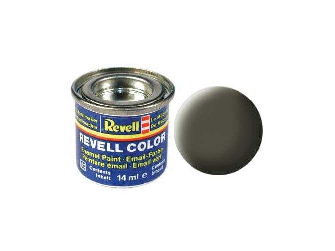 Revell - Barva emailová 14ml - č. 46 matná olivová NATO (nato olive mat), 32146